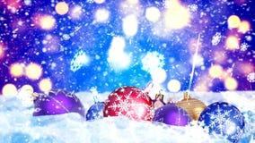 Fond avec le rendu gentil des boules 3D de Noël Photo stock