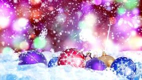 Fond avec le rendu gentil des boules 3D de Noël Image stock