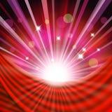 Fond avec le rideau rouge Images libres de droits