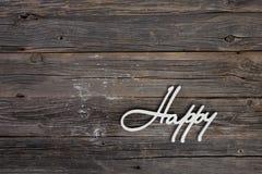 Fond avec le signe du mot heureux Image stock