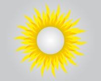 Fond avec le soleil et espace rond pour votre texte Image stock