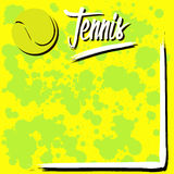 Fond avec le tennis illustration stock