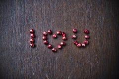 Fond avec le texte je t'aime pour la Saint-Valentin Image stock