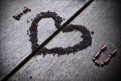 Fond avec le texte je t'aime pour la Saint-Valentin Photo libre de droits
