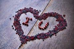 Fond avec le texte je t'aime pour la Saint-Valentin Images libres de droits