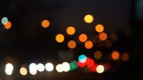 Fond avec le trafic de nuit sur la route clips vidéos