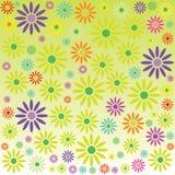 Fond avec le vecteur de couleur de fleurs Images stock