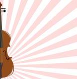 Fond avec le violon Images libres de droits