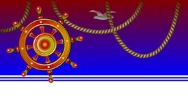 Fond avec le volant pour le thème marin illustration de vecteur