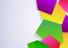 Fond avec les éléments géométriques colorés illustration libre de droits