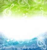 Fond avec les éléments musicaux Images stock