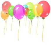 Fond avec les ballons colorés Photo libre de droits