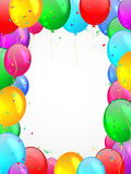 Fond avec les ballons multicolores. illustration stock