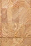 Fond avec les blocs en bois collés de mélèze Image stock