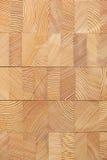 Fond avec les blocs en bois collés de mélèze Photos stock
