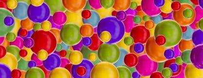 Fond avec les boules brillantes multicolores Images libres de droits
