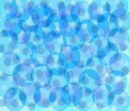 Fond avec les cercles bleus Image libre de droits