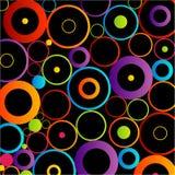 Fond avec les cercles colorés Image stock