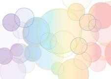 Fond avec les cercles colorés Photos libres de droits