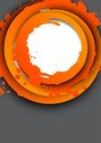 Fond avec les cercles oranges Images libres de droits
