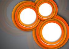 Fond avec les cercles oranges Photo stock