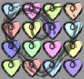 Fond avec les coeurs colorés illustration libre de droits
