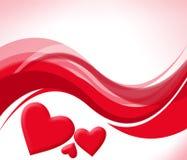 Fond avec les coeurs rouges Photos stock
