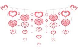 Fond avec les coeurs rouges Illustration Stock