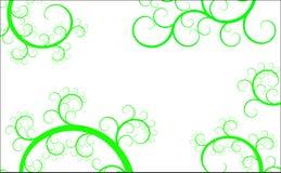 Fond avec les courbes vertes illustration de vecteur