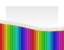 Fond avec les crayons colorés Image libre de droits