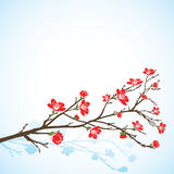 Fond avec l'arbre sring illustration libre de droits