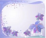 Fond avec les fleurs violettes Photo stock