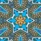 Fond avec les formes bleues géométriques illustration libre de droits