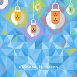 Fond avec les lanternes chinoises Images stock