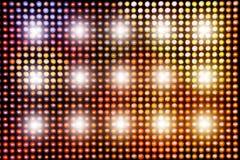 Fond avec les lumières lumineuses brillantes de LED image libre de droits
