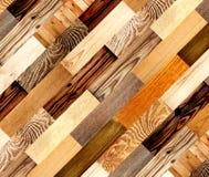 Fond avec les modèles en bois Photos libres de droits