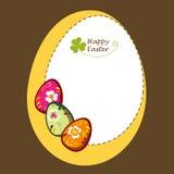 Fond avec les oeufs de pâques décoratifs Photo stock