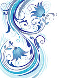 Fond avec les ornements bleus Photo stock