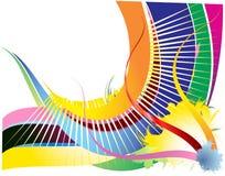 Fond avec les pistes colorées Image stock