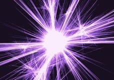 Fond avec les rayons magiques brouillés de lampe au néon Images libres de droits