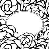 Fond avec les roses monochromes tirées par la main. Illustration de vecteur Photos libres de droits