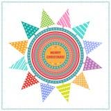 Fond avec les sapins multicolores Image libre de droits