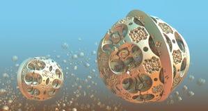 Fond avec les sphères 3D illustration stock