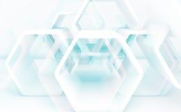 Fond avec les structures hexagonales 3d Images libres de droits