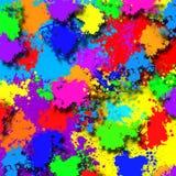 Fond avec les taches beaucoup colorées Photos libres de droits