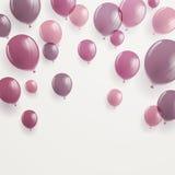 Fond avec Rose Balloons Photos libres de droits