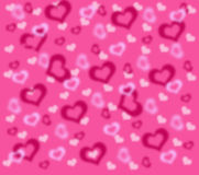Fond avec rose et blanc aux coeurs Images stock