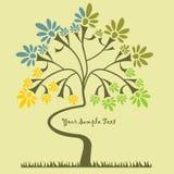 Fond avec un arbre Image stock