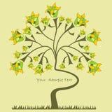 Fond avec un arbre Photographie stock