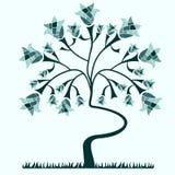 Fond avec un arbre Photos stock